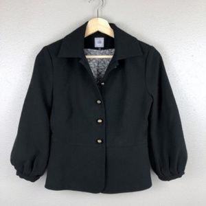 CAbi 3027 Black Abbott Jacket Gold Buttons